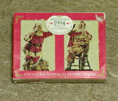 Vintage Coca-Cola Playing Cards (1994 Limited Edition) Sealed Decks in Tin