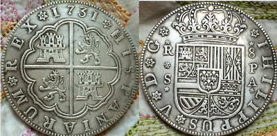 1731 Spain 8 Reales coin