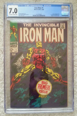 Iron Man #1 CGC 7.0 FN/VF Unrestored