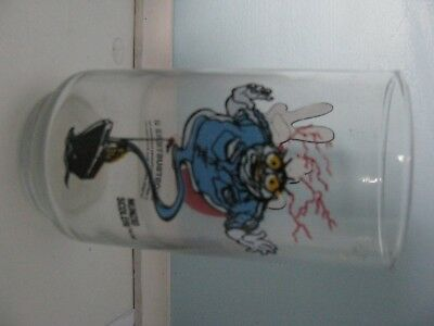 GHOST BUSTERS II SLIMER GLASS TUMBLER 1989 PROMO ADVERTISING COLUMBIA Nunzio