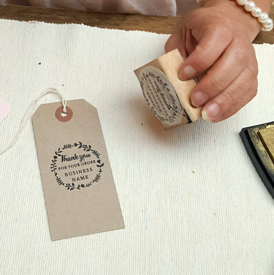 Customised 'Thank You for your order' business name personalised rubber stamp