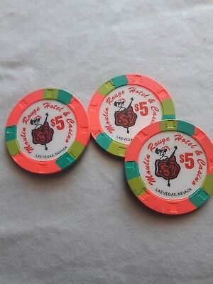 $5 Moulin Rouge casino chip
