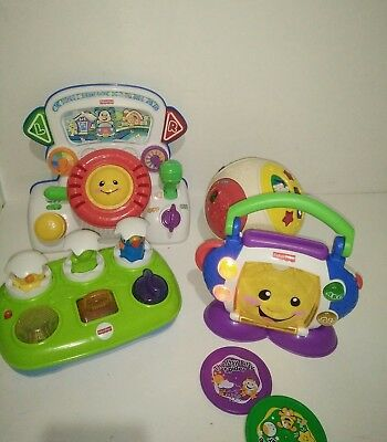 Fisher Price Laugh & Learn Driver Sing with Me CD Player Pop up Eggs V-Tech Ball