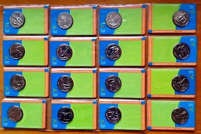 2006 50 Cents Commonwealth Games Set of 18 Coin + Cards  Australia UNC