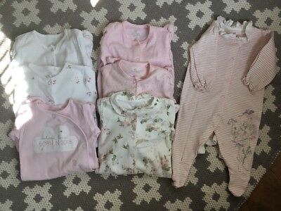 Next Baby Girls Floral/Born In 2018 Sleepsuits (First Size & Up To A Month)