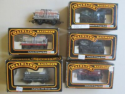 Mainline tanker car wagons, Palitoy for HO OO model train set Shell Esso ICI LMS
