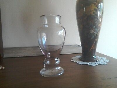 Art Deco Iridescent glass vase beautiful shape very rare.