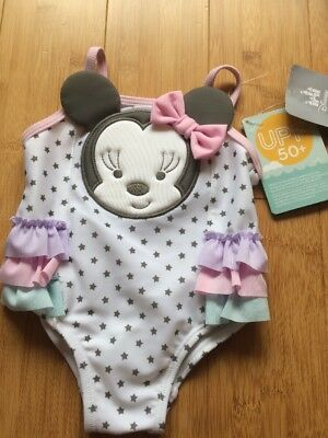 Disney Baby Minnie Mouse Swimsuit Upf 50+ 3-6 Months Bnwt