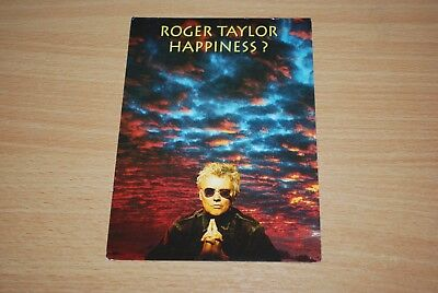 ROGER TAYLOR - RARE 'HAPPINESS' UK PROMO FAN CLUB POSTCARD queen