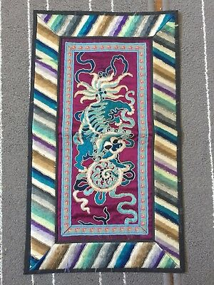 antique chinese silk embroidery 2