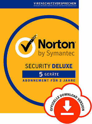 NORTON (Internet) SECURITY DELUXE 5-Geräte / 2 Jahre 2018 PC/Mac/Android / KEY