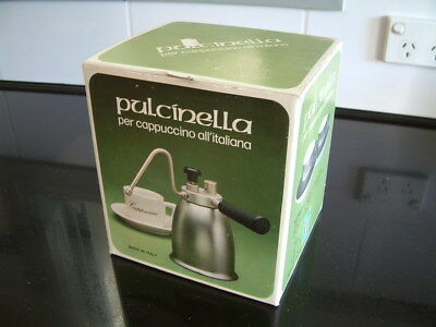 Pulcinella Italian vintage stovetop milk frother steamer. Camping Hiking 4WD Fis