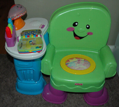 Fisher Price Laugh & Learn Song & Story Chair Baby Toddler Toy Activity