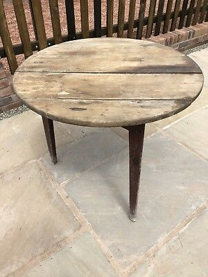 Cricket Table Antique Wood Vintage Tripod Side Table