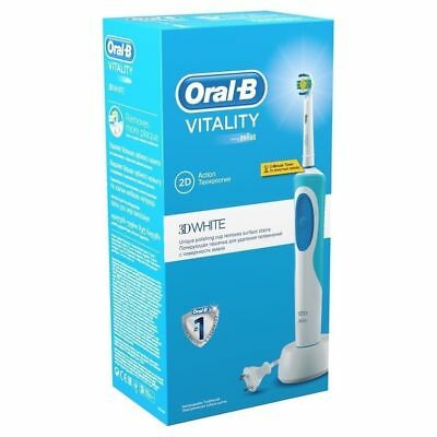 Electric Toothbrush Braun Oral-B Vitality 3D White Rechargeable+Free Adapter