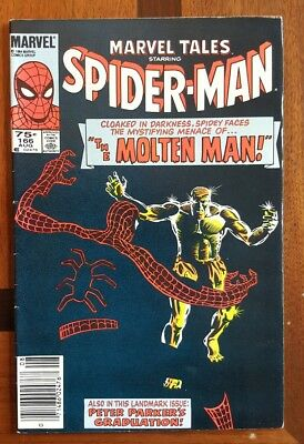 Marvel Tales 166 with Spider-Man Canadian Price Variant  ~F Marvel comic 1984