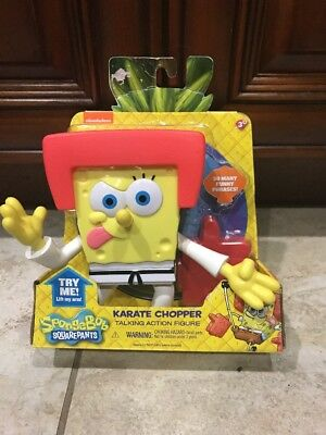 **NEW**Spongebob*Karate Chopper Action Figure Toy w/ Sound*2014**