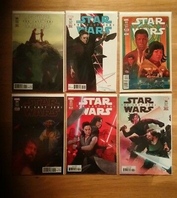 Star Wars Last Jedi Adaptation Complete (6 Marvel Comics) #1 #2 #3 #4 #5 #6