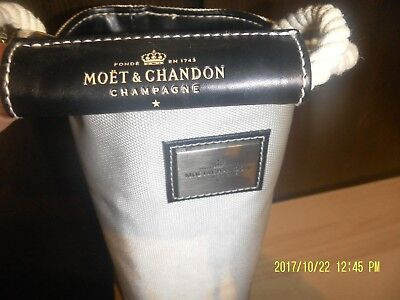 Moet & Chandon Wine Bucket Cooler Travel Carry Bag Insulated Handle Champagne
