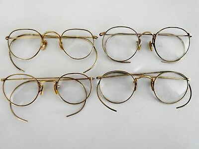 Vintage GF Gold Filled Eyeglasses Spectacles Lot 4 each B & L Bausch & Lomb AO
