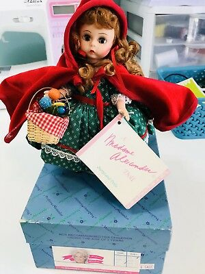 """Madame Alexander 7"""" Red Riding Hood Doll #140463 With Original Box & Stand"""