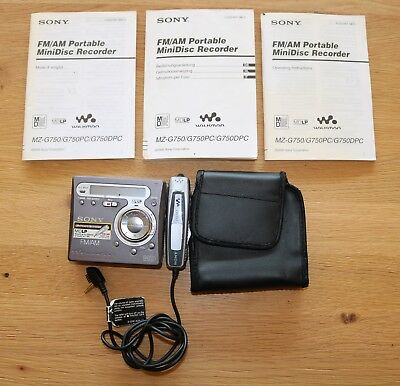 Sony Walkman MZ G750 mit FM AM Radio minidisc Player Recorder mit Mikrofon TOP
