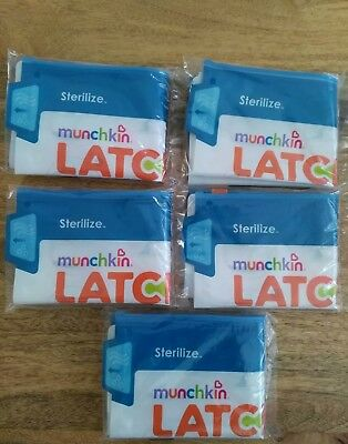 Munchkin Latch Steriliser Bag Travel Convenient 30 Uses Per Bag 5 Pack