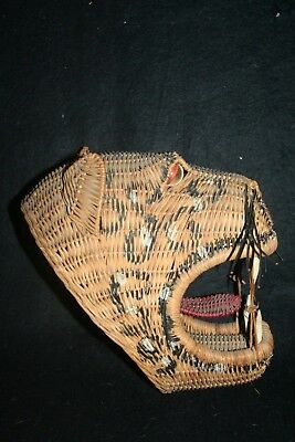 Rattan woven mask of Jaguar, Leopard or Tiger