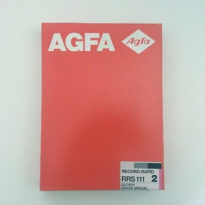 AGFA Record Rapid 2 b/w Baryta Paper 17.8 x 24 cm box 100 sheets box new sealed