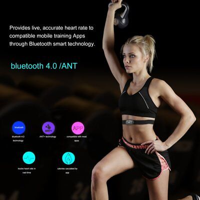 Chest Strap Bluetooth V4.0 Wireless Heart Rate Monitor Sports For Mobile Phone