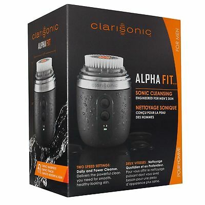 Clarisonic Mens Alpha Fit Sonic Skin Care & Facial Cleansing Brush For Mens.