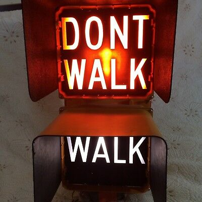 "21"" Traffic Electric Pedestrian Light Full Size WALK  DON'T WALK Durasig"