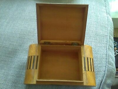 art deco wooden box