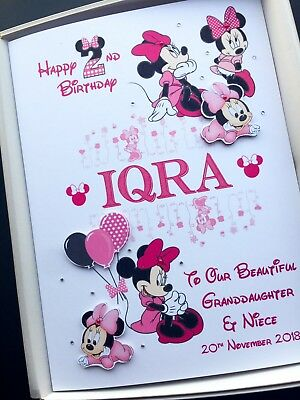 2nd Birthday Card For Girls Daughter Granddaughter PERSONALISED Handmade Boxed