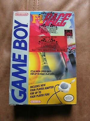 F-1 Race Complete w Adapter (GAME BOY) Brand New Factory Seal ORIGINAL RELEASE