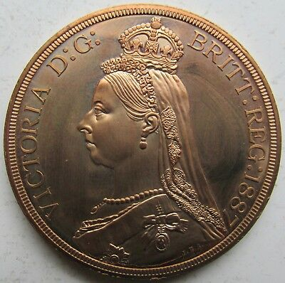 Great Britain, Wales Queen Victoria Jubilee Fantasy 5 Shillings Crown/Medal
