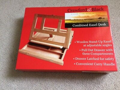 Crawford And Black Combined Easel Desk - New