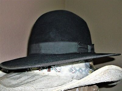 Fur Felted Stetson Amish 7 1/4 Good Used Condition Nice Style Clean Hat