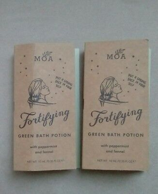 Two MOA Fortifying Green Bath Potions Peppermint & Fennel 10ml