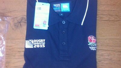 Canterbury Rugby World Cup 2015 England Supporters Polo Shirt - BNWT New - Large