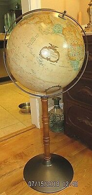 "Vintage Replogle 16"" World Classic Globe - Wood Stand with Metal Base 38"" Tall"