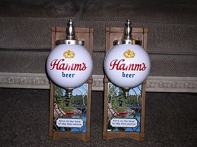 Vintage Hamms Beer Globe Lamp Light Set (pair) with original box RARE with box