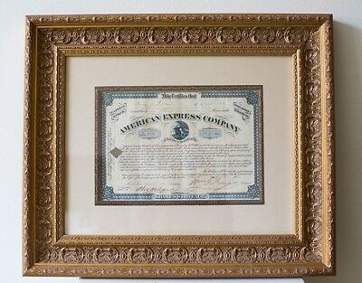 Wells Fargo 1881 Signed American Express Company Stock Certificate