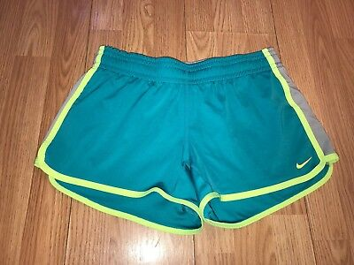 Nike Dri Fit Tempo Running Track XC Athletic Shorts Women's Turquoise Small