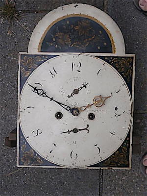 16+17inch 8DAY c1840 LONGCASE   CLOCK dial + movement
