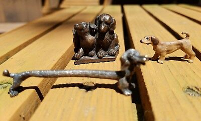Three Vintage Dachshund Figurines
