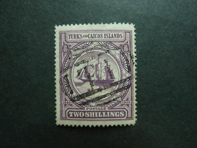 Turks and Caicos Islands 1900 Nr. 41 - 2 Shillings ! used ! look - ansehen!!!