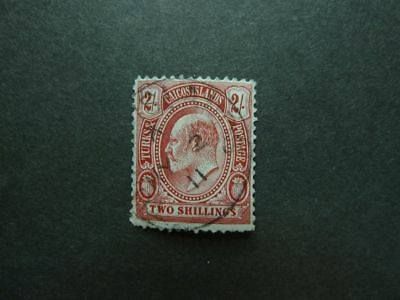 Turks and Caicos Islands 1909 Nr. 54 - 2 Shillings ! used ! look - ansehen!!!