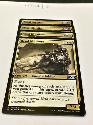 Magic the Gathering MTG Regal Bloodlord x4 Uncommon Cards NM/M M19