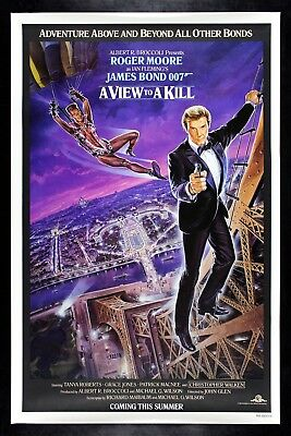 A VIEW TO A KILL ✯ CineMasterpieces ORIGINAL ROLLED MOVIE POSTER JAMES BOND 1985